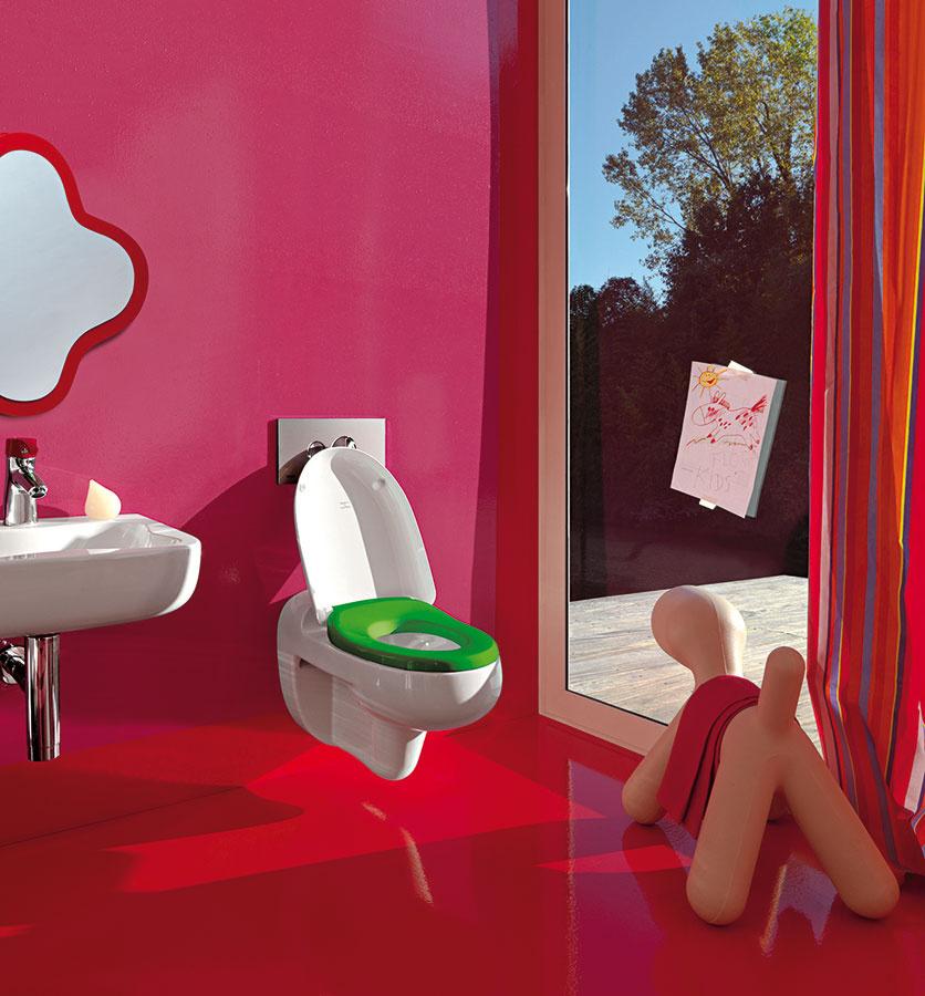 Detské kúpeľne sú špecifickým segmentom na trhu. Svojou veľkosťou itvarmi sú jednotlivé zariaďovacie prvky naplno prispôsobené malým užívateľom. Samozrejmosťou je hravá farebnosť.