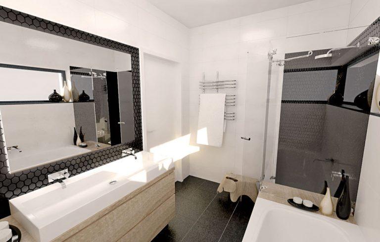 Dva návrhy na rekonštrukciu kúpeľňe pre mladú rodinu, ktorá hľadala pomoc