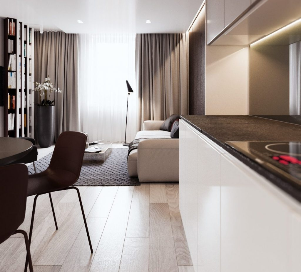 Nadčasový a funkčný byt pre trojčlennú rodinu preslávil mladého dizajnéra