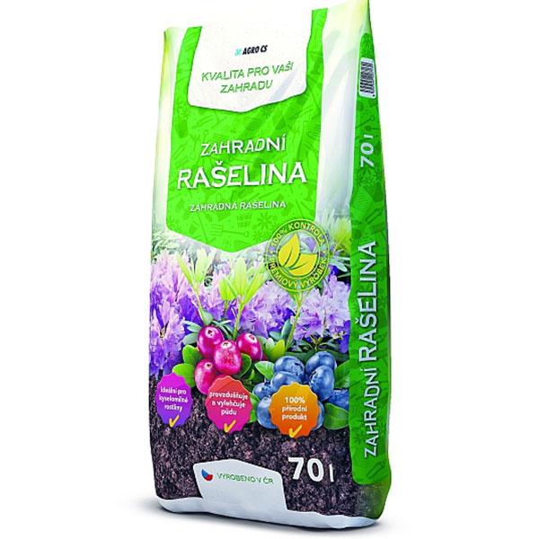 Záhradná rašelina na zlepšenie vlastností pôdy. Cena za balenie 70 l: 4,00 €.