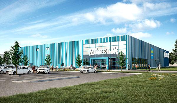 Otvorenie nového obchodného domu Möbelix v Nitre
