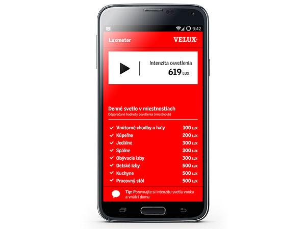 Nová aplikácia pre smartfóny a tablety – LUXMETER – jednoducho zmeria množstvo denného svetla v interiéri.