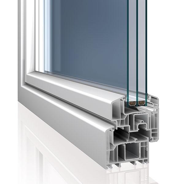 Nové predsadené okenné krídlo Eforte je nielen zaujímavým prvkom z hľadiska dizajnu. Z vonkajšej strany krídlo rámu takmer splýva do jednej roviny. Možno ho tiež osadiť aj štvorsklom so šírkou až 56 mm. Súčiniteľ prestupu tepla rámom dosahuje pri štandardnej oceľovej výstuži bez prídavných prvkov Uf = 0,94 W/m2 . K
