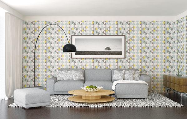 Naopak, aj výrazný vzor sa ZMENŠENÍM stane príjemným, nerušiacim prvkom interiéru.