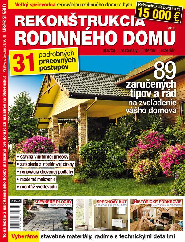 Nová publikácia v predaji Rekonštrukcia rodinného domu