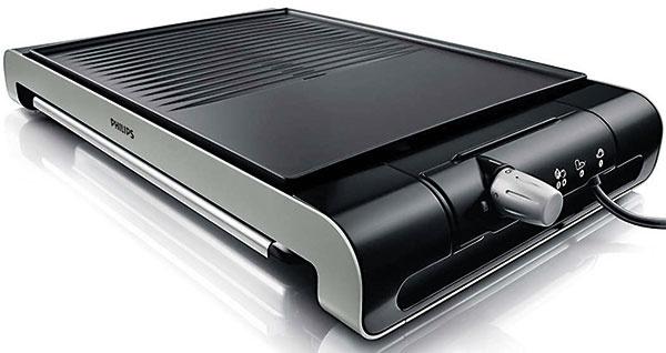 Philips HD4419  Ohrev: 2 300 W, regulácia Grilovacia plocha: 1 odnímateľná platňa  30 × 37 cm  Povrch: nepriľnavý, hladký + vrúbkovaný