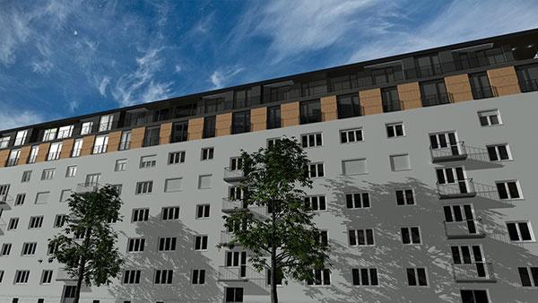 V atraktívnej časti Ružinova, na Cyrilovej ulici, vyrastie moderná nadstavba so 14 bytmi