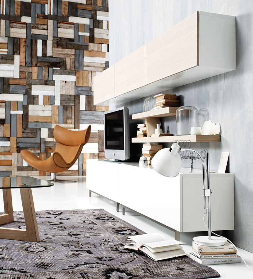 Kompozície kvádrov sú dnes v domácnostiach azda najvídanejšie. Pôsobia jednoducho a elegantne, no aby nepôsobili nudne, vyváži ich výraznejšie sedenie či textílie.