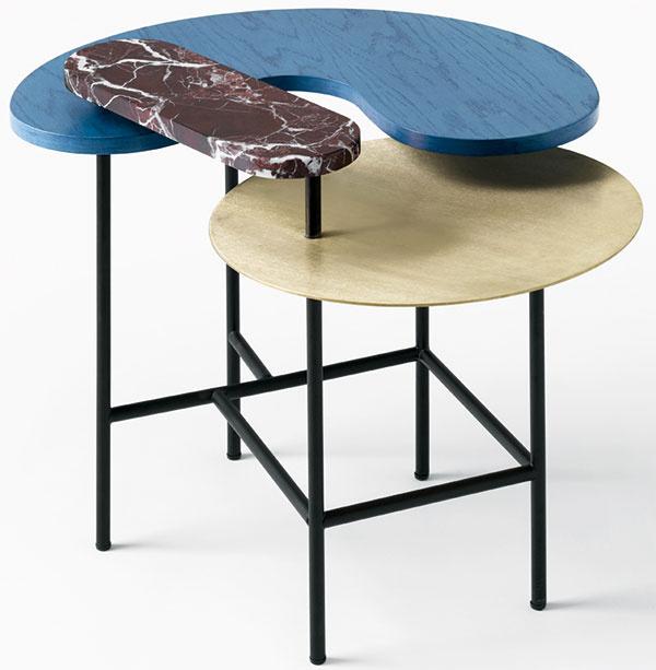 Ako šperk. Výrazný a elegantný dizajn stola Palette značky andTradition sa postará o dotvorenie a oživenie jednoliateho interiéru.