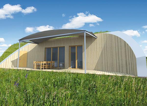 Krtkodom. Domy chránené zeminou majú svoje výhody pri stavbe aj pri prevádzke.