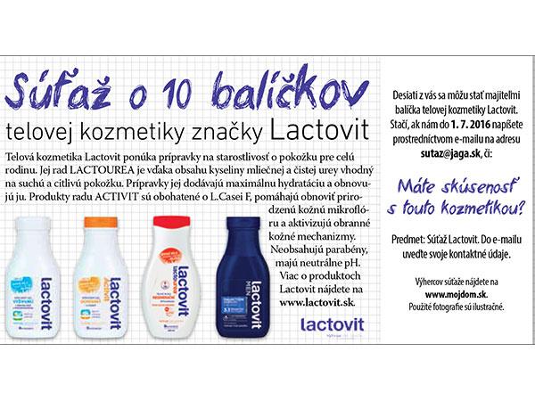 Výsledky súťaže o 10 balíčkov telovej kozmetiky Lactovit