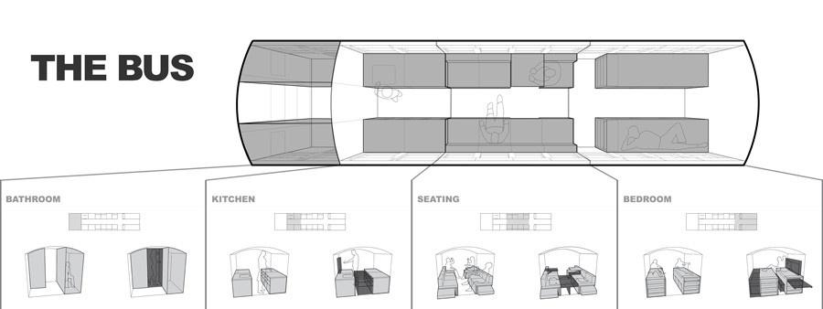 Študent premenil pojazdný autobus na malý príbytok