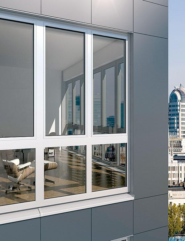 Hliníkový okenný systém Schüco AWS 112 IC (Isulation Cover) je vo svojej kategórii prvým, ktorý zodpovedá kritériám pre pasívny dom. Vďaka tepelnoizolačnej schopnosti (Uf