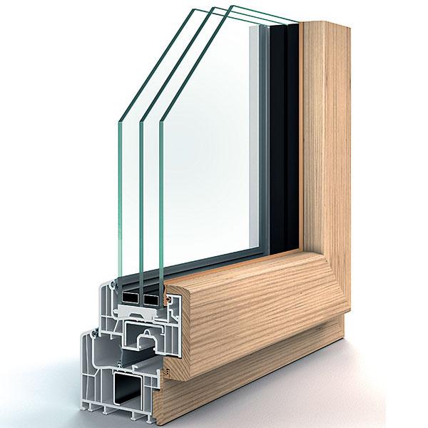 Nové možnosti na trhu plastových okien prináša inovatívny dizajnový okenný profil Eforte Fusion od firmy Inoutic. Na plastové okno sa z vnútornej strany umiestňuje drevený, z vonkajšej hliníkový kryt. Výsledkom je kombinácia vlastností: tepelnoizolačné hodnoty a odolnosť plastového okna, prírodný vzhľad dreva v interiéri a neutrálny dizajn hliníka v exteriéri.