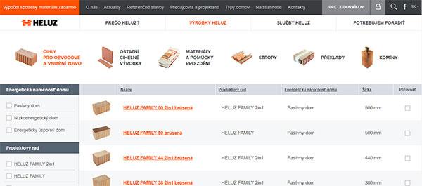 Výrobca tehál HELUZ má nový web