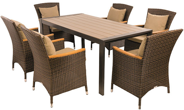 Chytrý stôl Variant (podnožie Leopard, doska Durabord Sivý dub), kreslá Claudia