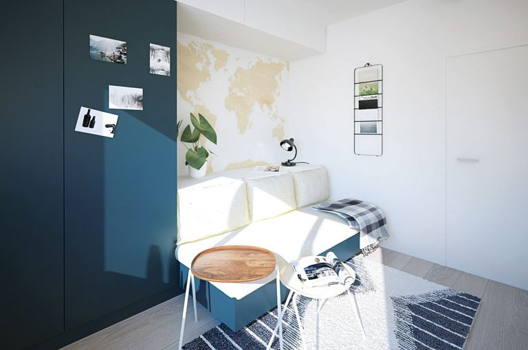 Ako premeniť bývalú študentskú izbu na multifunkčný priestor pre život