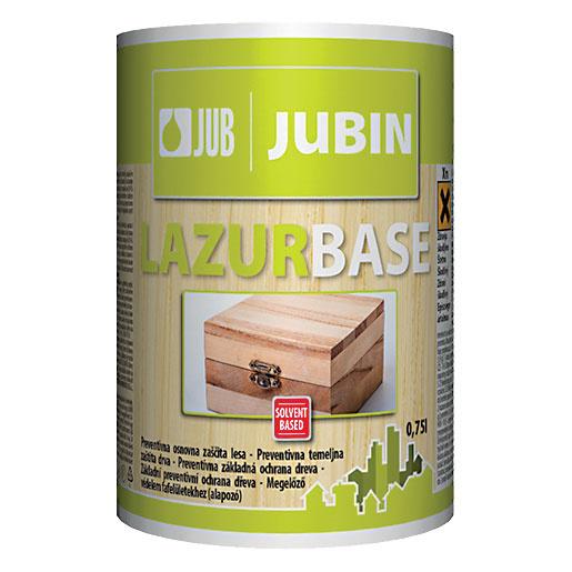 JUBIN Lazurbase je bezfarebná impregnácia na základnú preventívnu ochranu dreva sobsahom insekticídu (ochrana pred hmyzom) afungicídu (ochrana pred hubami – modraním apráchnivením). Drevo by sa nemalo dotýkať zeme ani byť ponorené do vody. Neodporúča sa na drevo vobytných priestoroch ani vpriamom kontakte spotravinami alebo krmivami. www.jub.sk