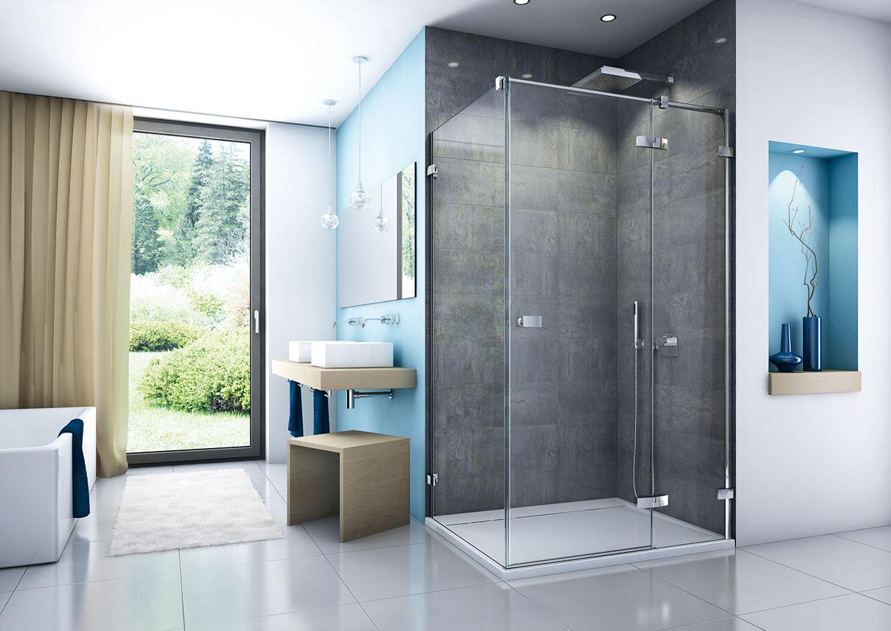 Čistý dizajn, nenáročné čistenie. Pre sériu sprchových zásten Escura od spoločnosti SanSwiss sú príznačné steny advere vyrobené zbezpečnostného skla hrúbky 6 mm ačistý dizajn rukovätí apántov. Tie sú na vnútornej strane skla zapustené, čo značne uľahčuje čistenie. Knenáročnej údržbe prispieva aj úprava skiel Aquaperle. Zdvihový mechanizmus pántov zjednodušuje otváranie azabraňuje predčasnému opotrebovaniu tesnenia. Zásteny sa štandardne vyrábajú vo výške 200 cm.