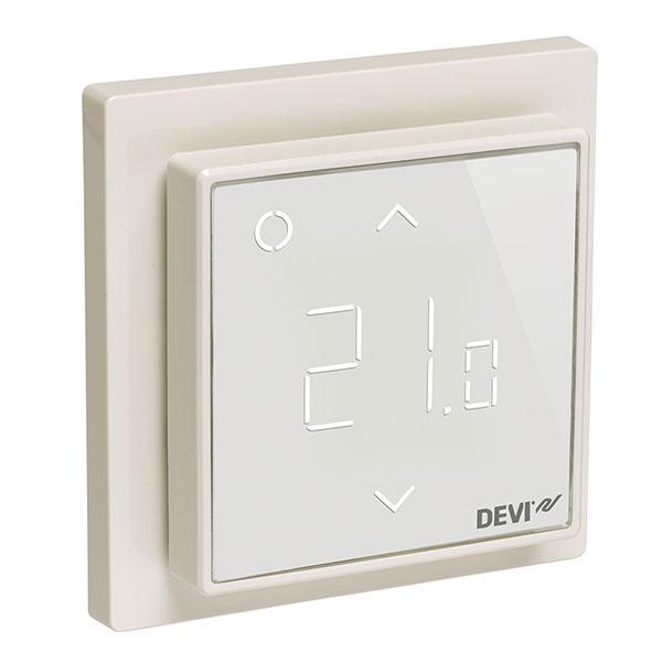 Dotykový displej DEVIregTM Smart umožňuje všetkým používateľom veľmi jednoduchý prístup a ovládanie.