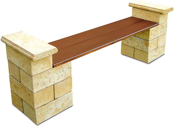 Ku kvetinovému záhonu. Ak si chcete vzáhrade dopriať chvíľu oddychu, umiestnite si do nej menšiu lavičku. Dobrú voľbu predstavuje model Travero zbetónových prvkov programu Bradstone od spoločnosti Semmelrock doplnený doskou ztvrdého dreva.