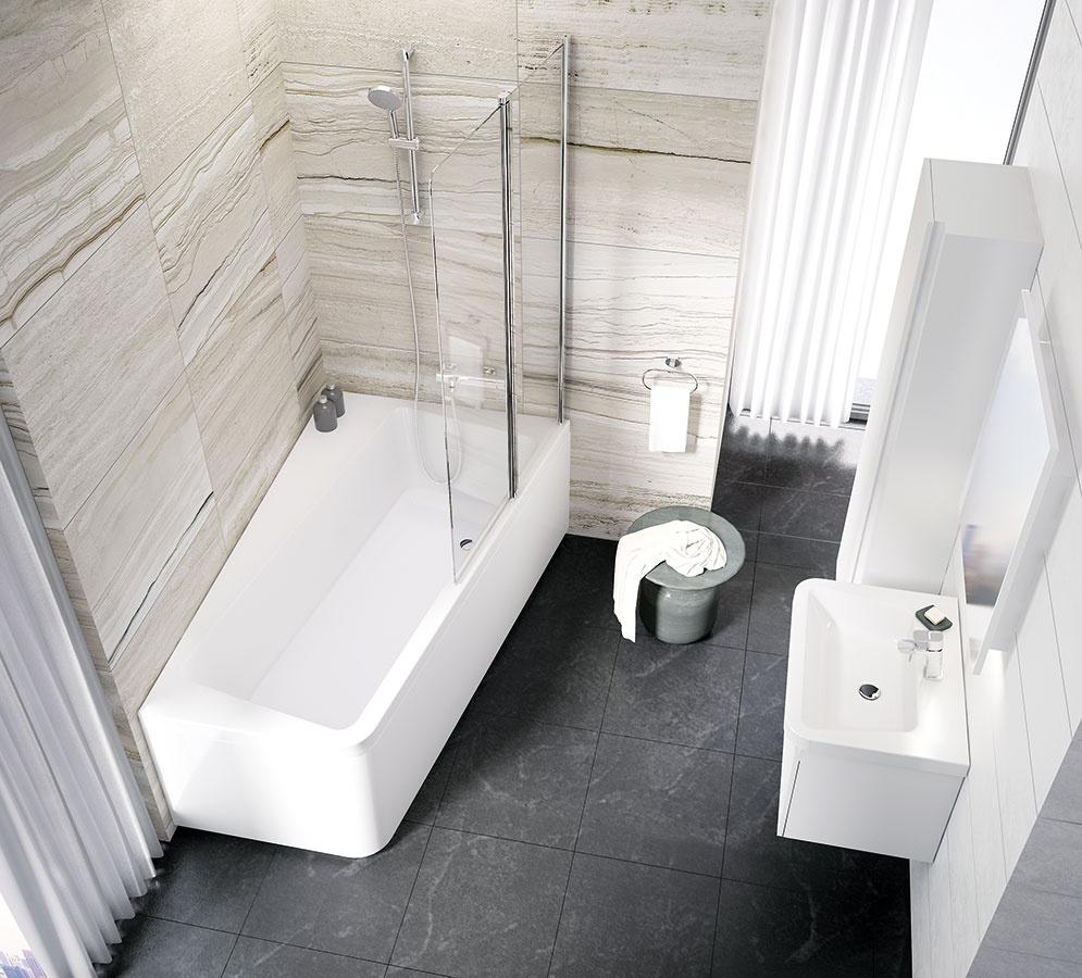 Obdĺžniková vaňa od spoločnosti Ravak, ktorú navrhol dizajnér Kryštof Nosál, je určená pre všetkých, ktorí obľubujú klasiku, ale chcú mať aj pohodlie. Zaujímavá je pootočením o10° – vďaka tomu vznikol odkladací priestor, ktorý možno využiť aj na sedenie. Kúpeľňový koncept 10° získal významné medzinárodné ocenenie Red Dot.