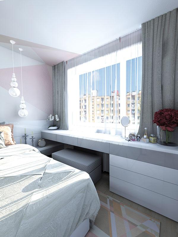Svetlá drevená podlaha, ktorá bola jednou z požiadaviek čitateľky, s celkovým zariadením spálne príjemne harmonizuje.