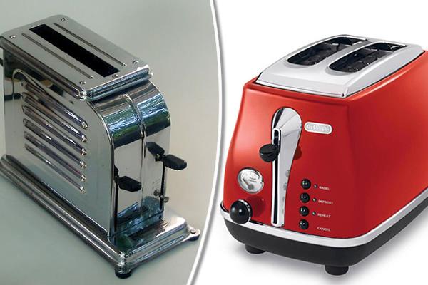 Patentovaný hriankovač Toastmaster a moderný hriankovač od spoločnosti De'Longhi