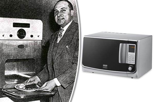 Vynálezca mikrovlnnej rúry Percy Spencer a moderná mikrovlnná rúra od spoločnosti De'Longhi