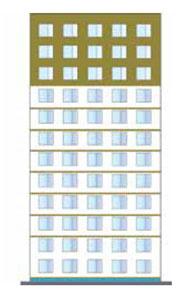 Požiarne zábrany, samostatne stojaca budova s výškou stavby viac ako 22,5 m a tepelnou izoláciou z EPS s hrúbkou viac ako 100 mm, najviac však 200 mm.