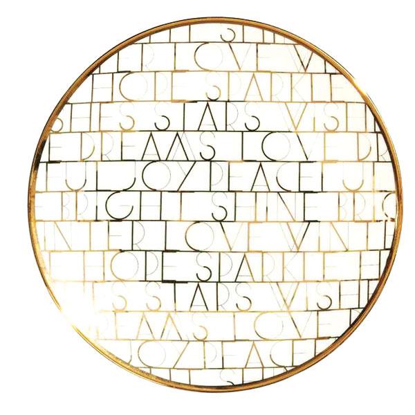 Porcelánové tanieriky stlačeným motívom, priemer 16 cm, 5,99 €, H&M Home