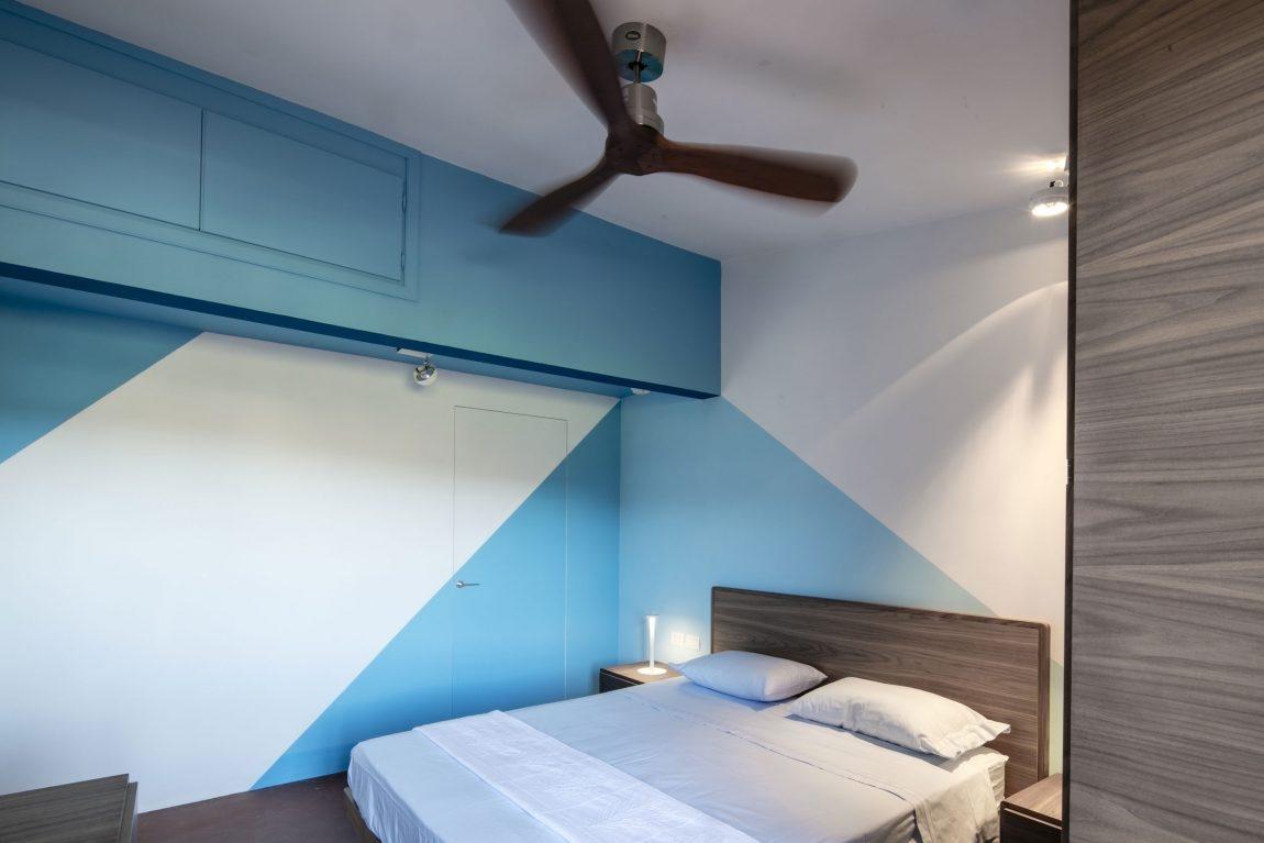 Modrá dominuje talianskemu interiéru s gráciou