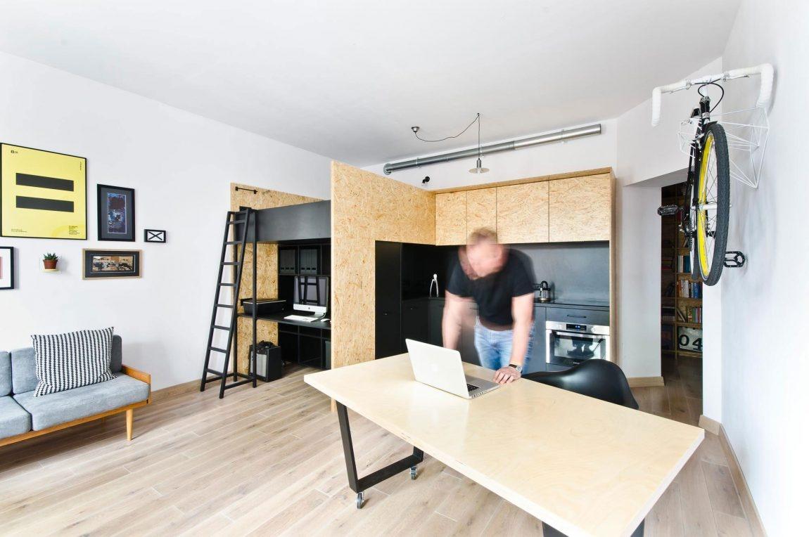 Jednoduchý a svieži byt pre pracujúceho otca a jeho syna