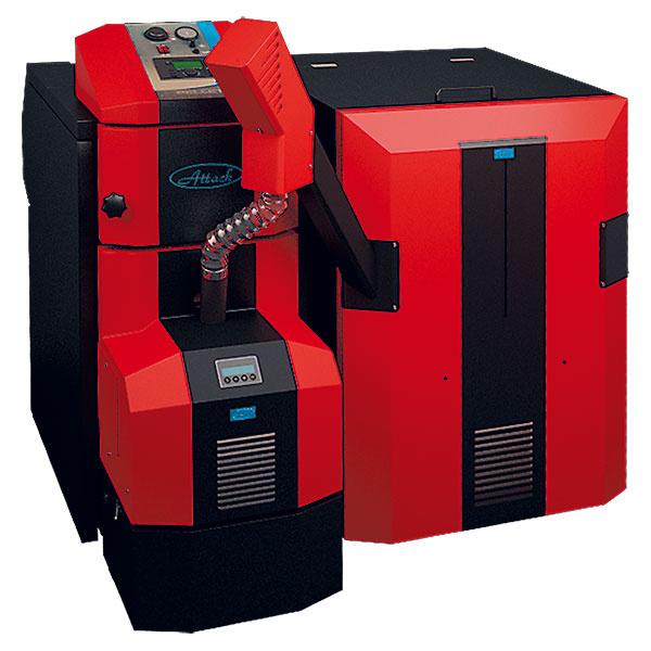 Kotol na spaľovanie drevných peliet ATTACK PELLET 30 AUTOMATIC Plus je moderné zariadenie, ktoré svojou technológiou spaľovania znižuje prevádzkové náklady ašetrí životné prostredie. Zároveň vďaka automatizácii podávania paliva, odoberania popola ariadenia prevádzky izbovým termostatom ponúka komfort porovnateľný so spaľovaním plynu.