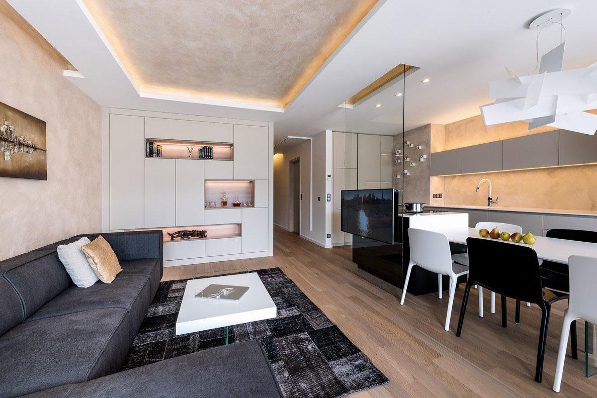 Moderný byt plný svetla s výhľadom na rieku