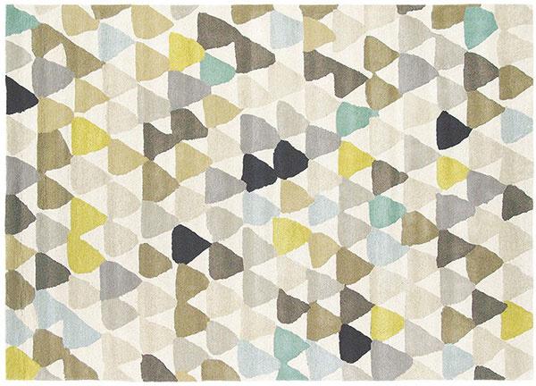 Vlnený koberec z dizajnového radu Harlequin, vzor Lulu, v dvoch farebných vyhotoveniach, 140 × 200 cm, 549 €, www.modant.sk