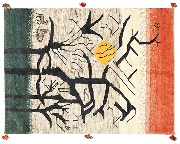Ručne viazaný perzský koberec Gabbeh, 151 × 204 cm, 784 €, www.rugvista.cz
