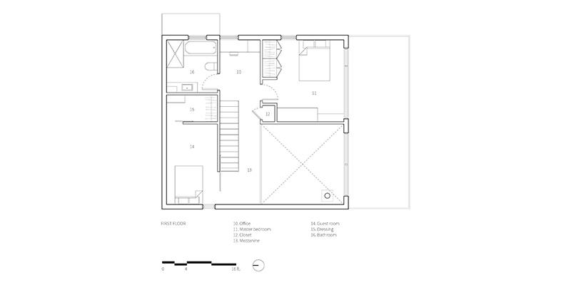 Dom pre mladého stolára: Drevo a štvorcový pôdorys