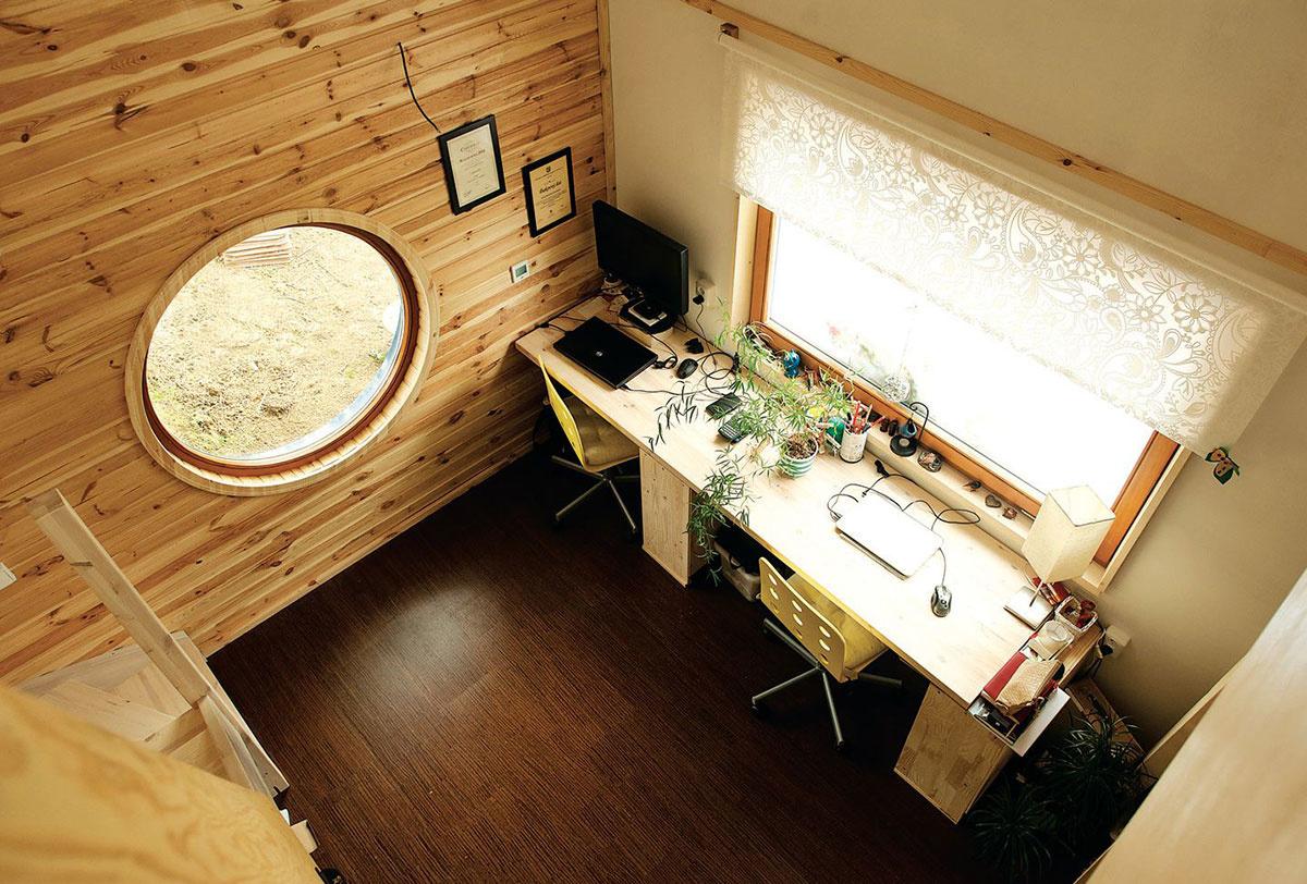 Interiér tzv. Mobilného domu.