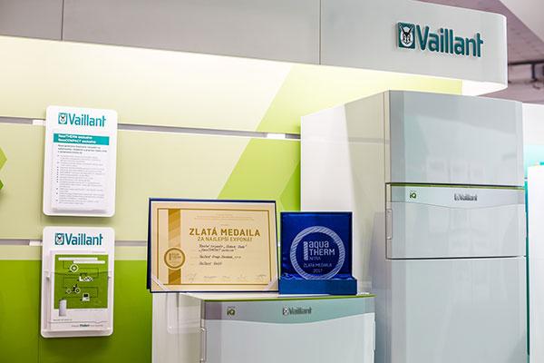 Zlatá medaila pre tepelné čerpadlo Green iQ značky Vaillant.