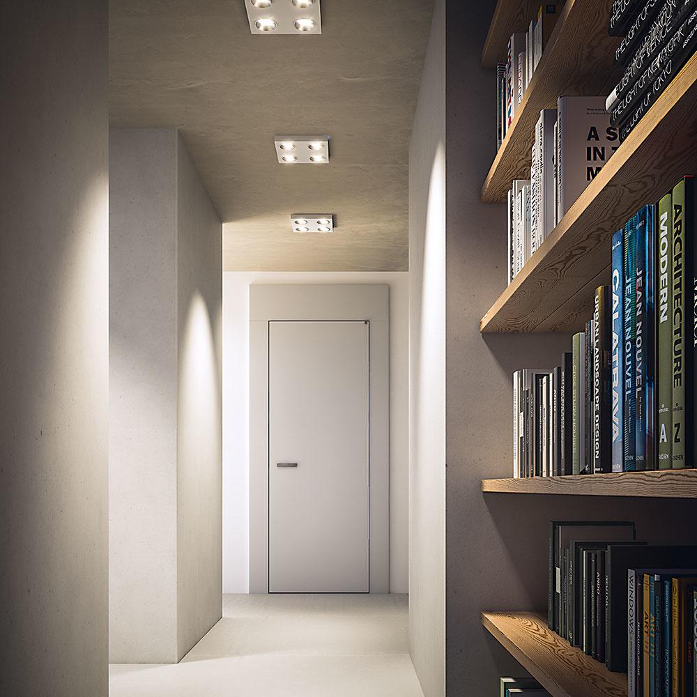 Ideálnym stropným osvetlením v predsieni sú modely s viacerými svetelnými zdrojmi, ktoré osvetlia väčšiu časť priestoru. Zaujímavú voľbu predstavuje svietidlo Quine od značky Philips, ktoré v rámci minimalistického dizajnu poskytuje dostatočné osvetlenie celej chodby. Stropné svietidlá v predsieni možno kombinovať aj s nástennými.