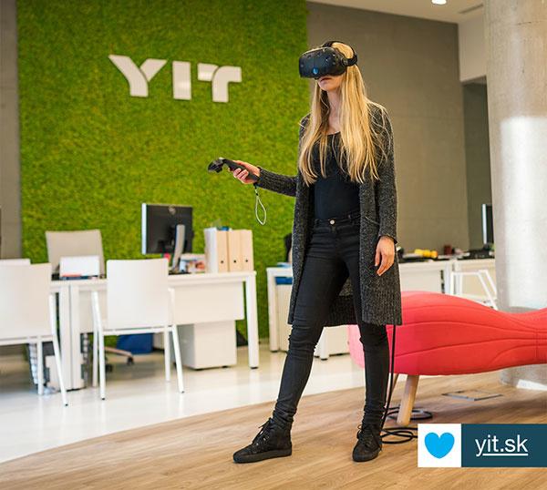 Virtuálna realita v Predajnom centre YIT