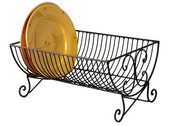 Kovový na taniere vsecesnom štýle, poloblúkový tvar, 40 × 20 × 30 cm, 25,30 €, www.laimpressione.sk