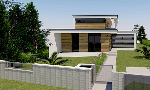 Projekt rodinného domu FRAME HOUSE