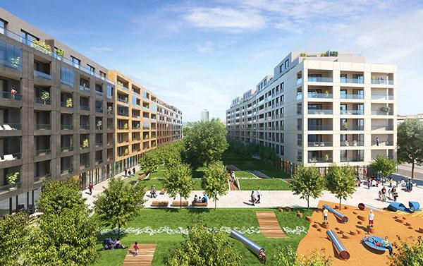 Oddychovú zónu tvorí veľkorysý 60-árový park, Foto – Archív Urban Residence