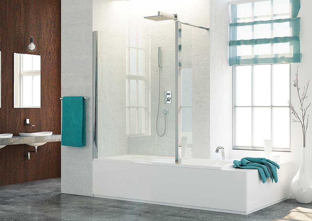 Walk-in zásteny sú trendom v kúpeľniach, kde je viac miesta. Skladajú sa z niekoľkých pevných stien a nie sú úplne uzatvorené. Ich rozmiestnenie si môžete navrhnúť podľa vlastných požiadaviek. Typová séria Top-Line ponúka široké možnosti na kreatívne riešenie každej kúpeľne. (www.sanswiss.sk)