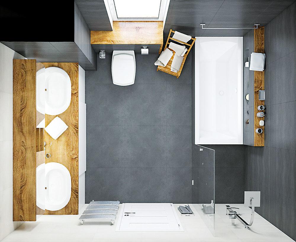 Dve umývadlá sú v prípade rodiny s tromi deťmi mimoriadne praktické najmä počas ranného zhonu.