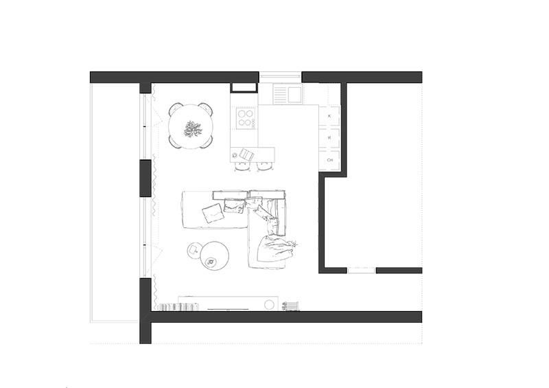 Ako zariadiť dennú časť bytu prepájajúcu kuchyňu s obývačkou