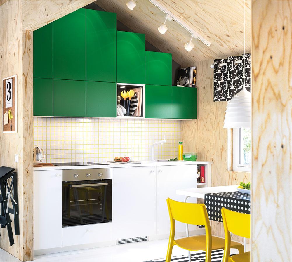 Kuchyne METOD sa vyznačujú vysokou flexibilnosťou, vďaka ktorej si linku vyskladáte presne podľa svojich predstáv. V sortimente nechýbajú rôzne typy a farebnosti dvierok vrátane výrazného zeleného modelu FLÄDIE. Nájdete v obchodnom dome IKEA.