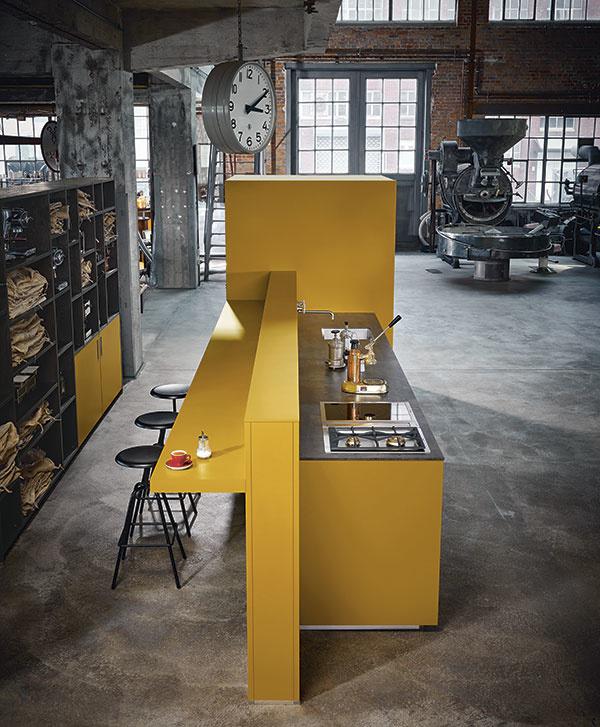 Dizajnové kuchyne s pracovnými doskami Systemo
